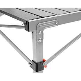 CAMPZ Aluminium Folding Table 107x70x70cm, black/grey